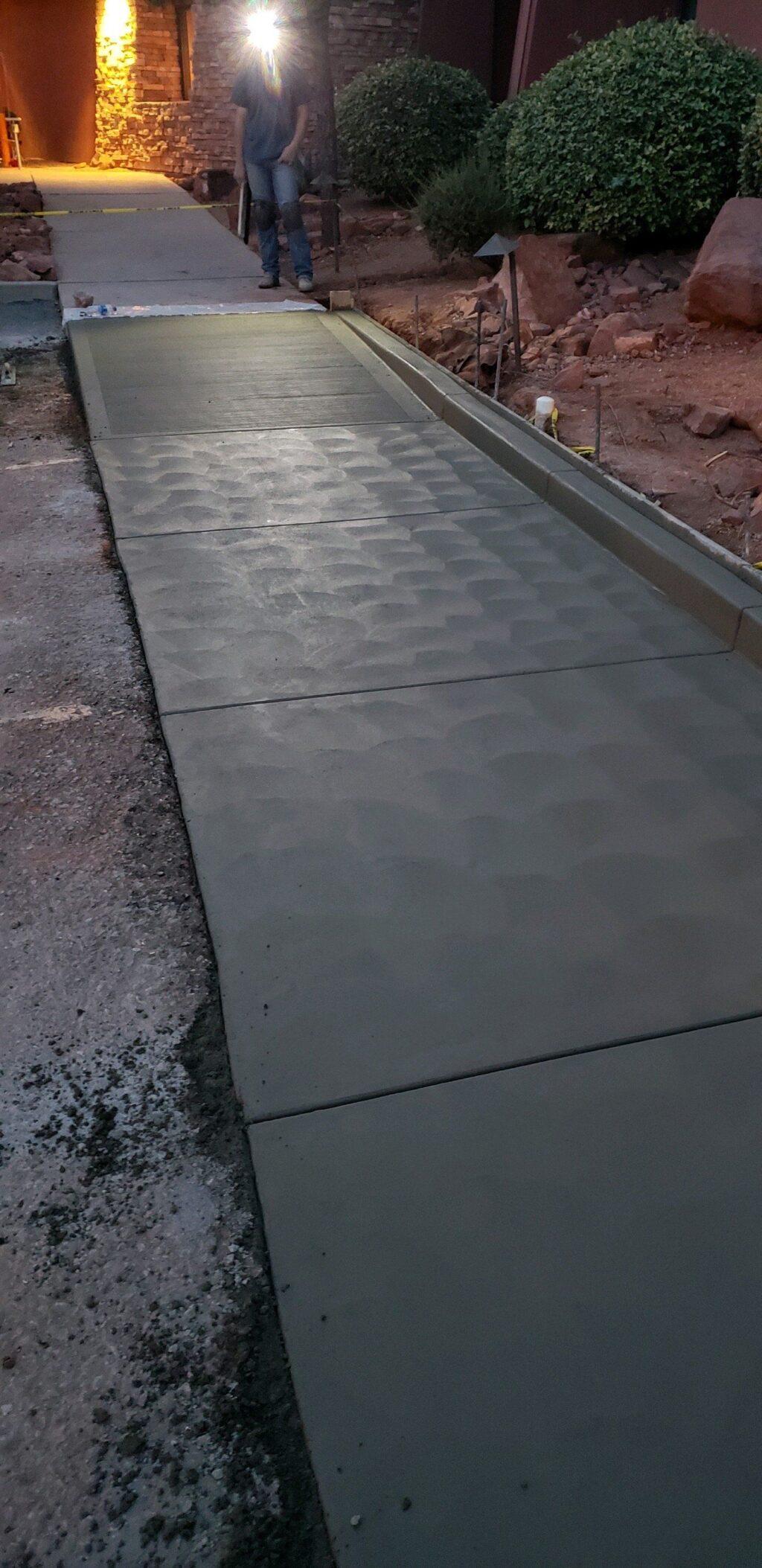 walkway cement Lakeland
